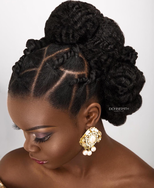 wedding hair style for black women