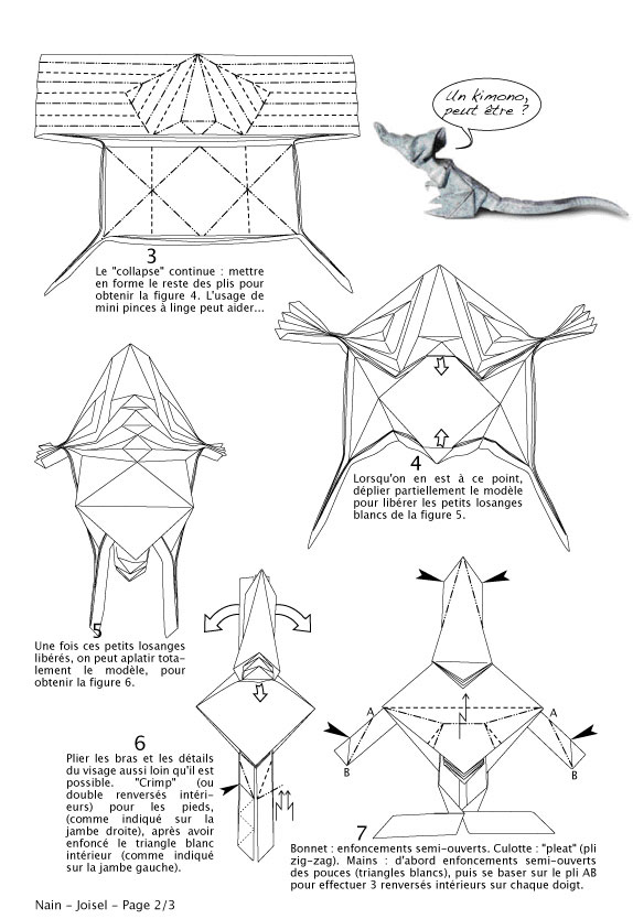 Origami Frog Face