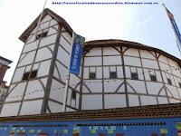 Fachada del teatro Globe de Shakespeare