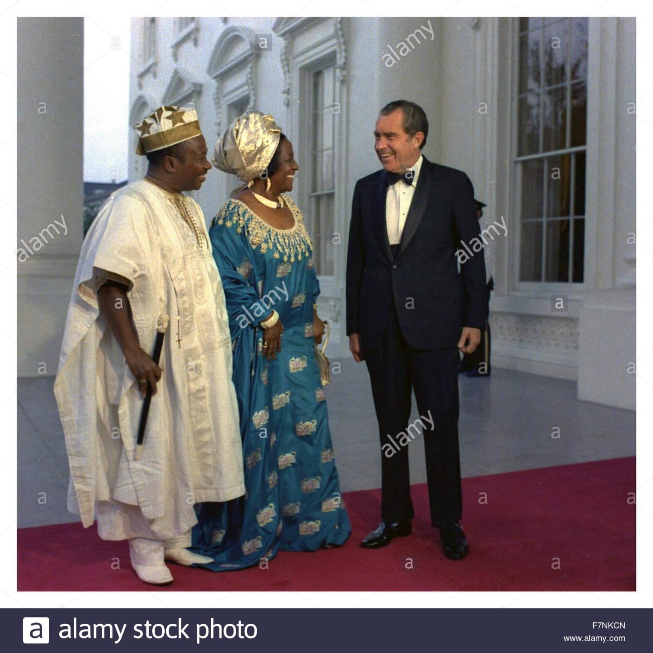 president tolbert of liberia with nixon
