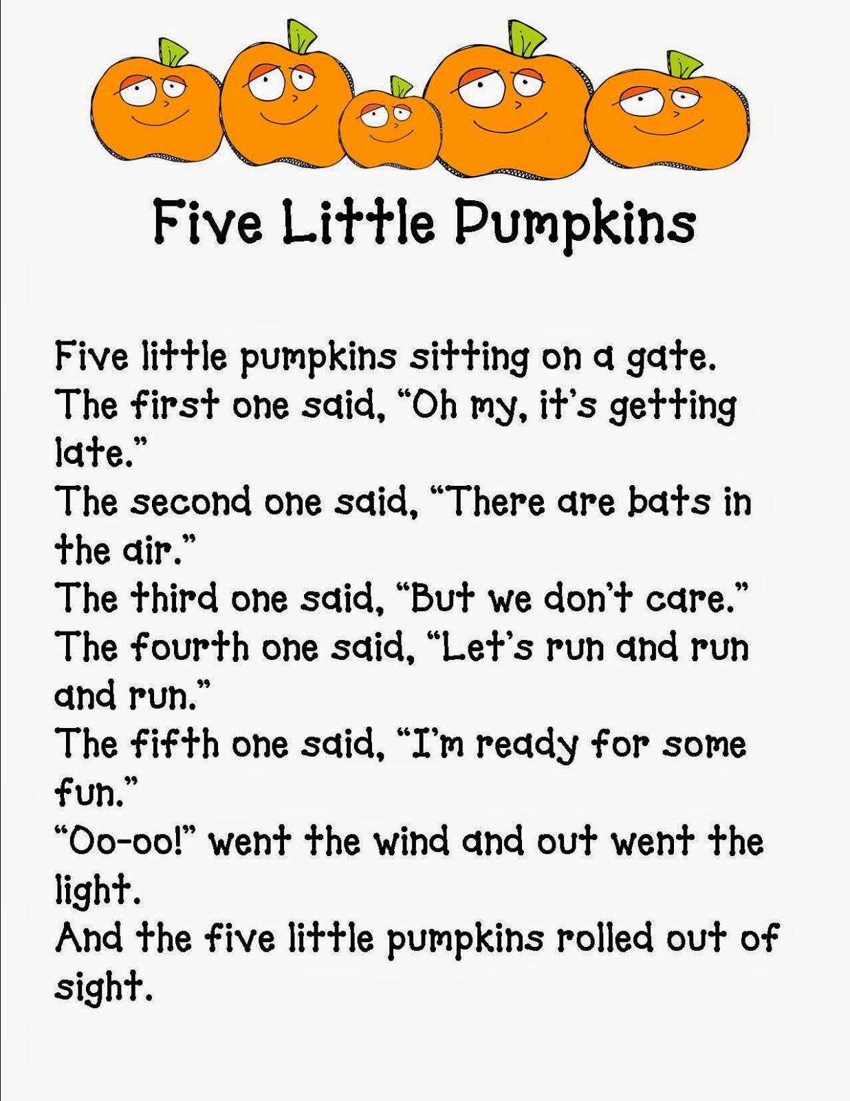 Teaching Learning Amp Loving 5 Little Pumpkins
