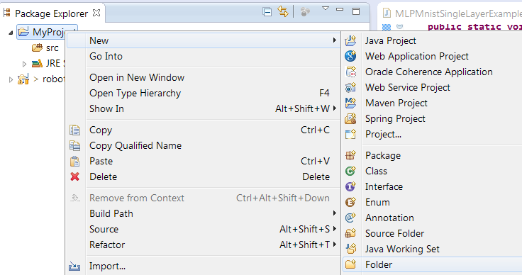 How to setup a DL4J project with eclipse | Electrons Free