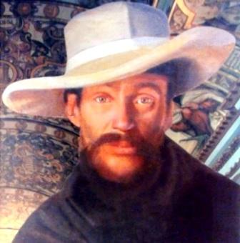 Dibujo de José Faustino Sánchez Carrión con sombrero