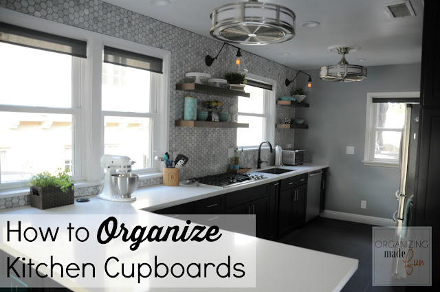 How to Organize Kitchen Cupboards :: OrganizingMadeFun.com