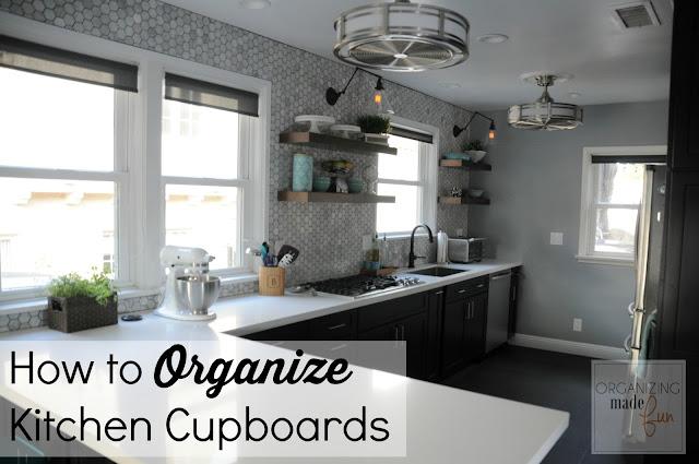 How to Organize Kitchen Cupboards :: OrganizingMadeFun.com