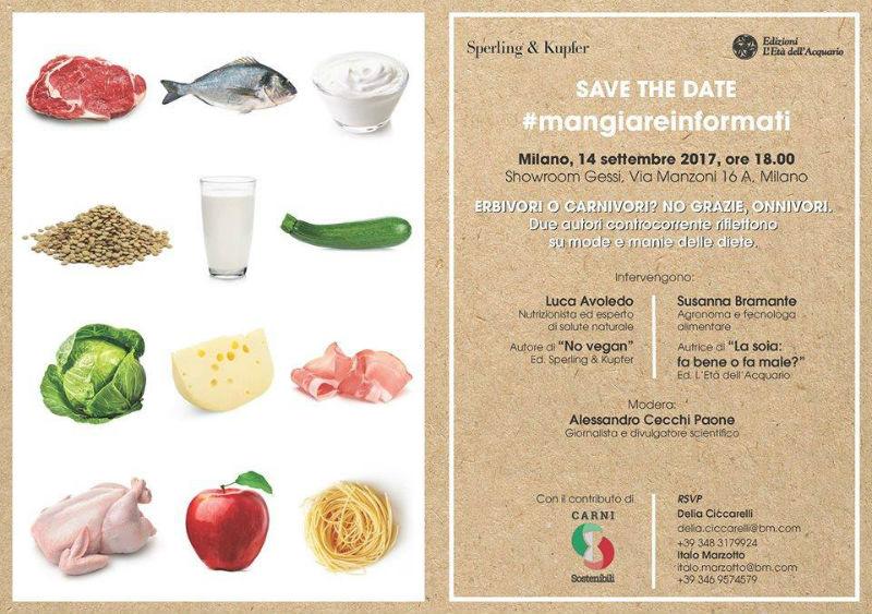 Conferenza sulla dieta vegana a Milano