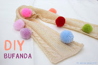 DIY Bufanda niño/a. Como tejer bufanda punto.