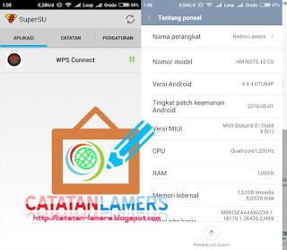 Root Redmi Note 4G Dual Sim (Gucci) MIUI Global 8 Stable Tanpa PC