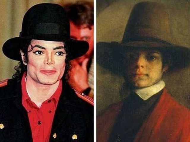 "Michael Jackson and ""the man's portrait"""