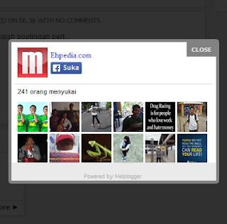 Cara Pasang Pop Up Facebook Like Box