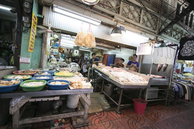 Mercato alimentare-Chinatown-Bangkok