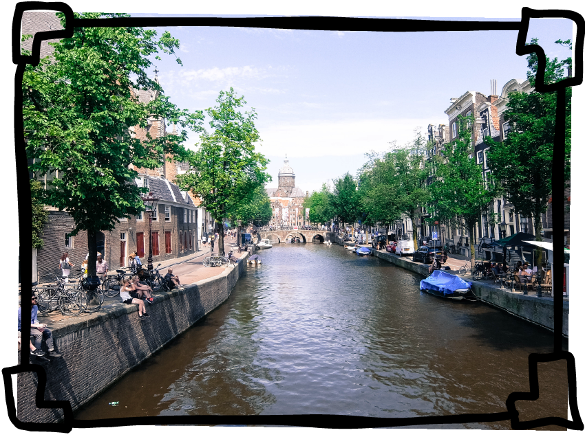 Postcard From Amsterdam - Interrailing Part 1 | www.hannahemilylane.com
