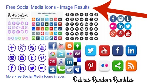 Debras Random Rambles: How to add Social Media Icons to your Blogger