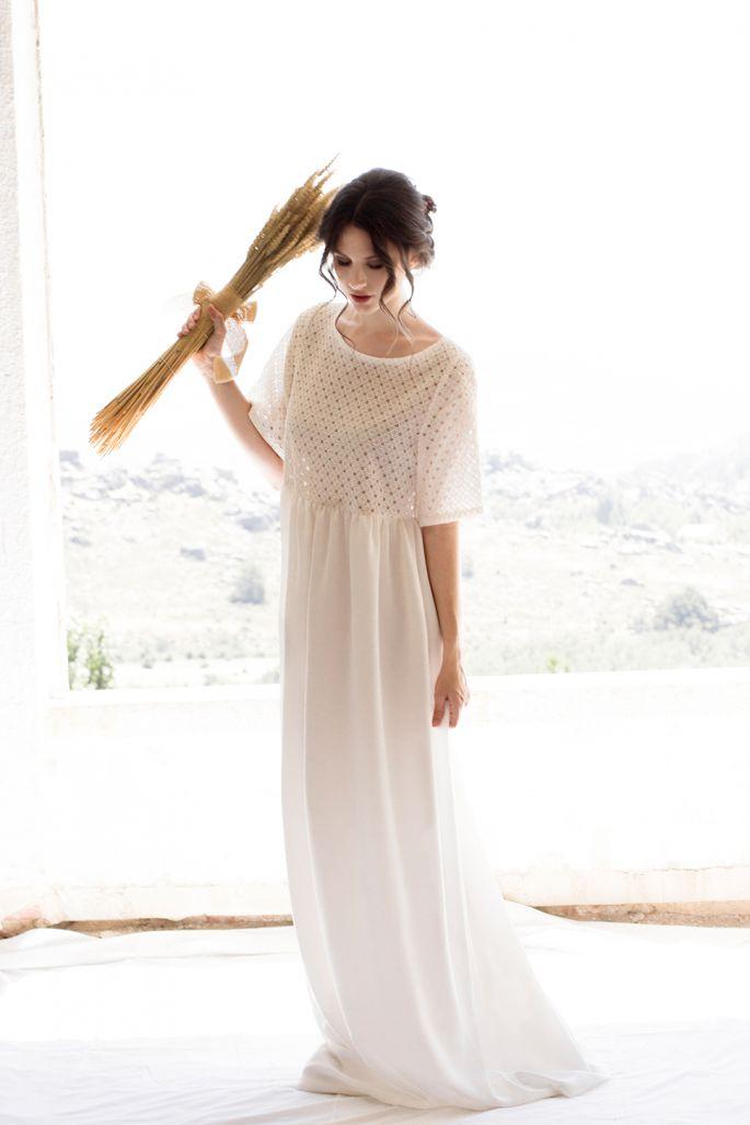 5f15cfb82 Como elegir el vestido de novia para embarazadas ¡5 increíbles consejos de  moda! Vestidos de novias largos