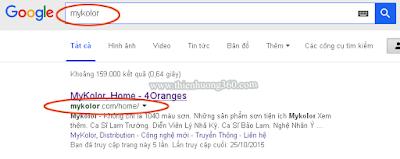 Cách tìm Đại lý độc quyền Sơn MyKolor trên Google