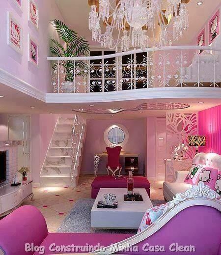 2 Year Old Girl Bedroom Ideas: Construindo Minha Casa Clean: Casa Feminina! Feliz Dia Da