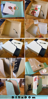Wrapped Cardboard Box Magazine Rack