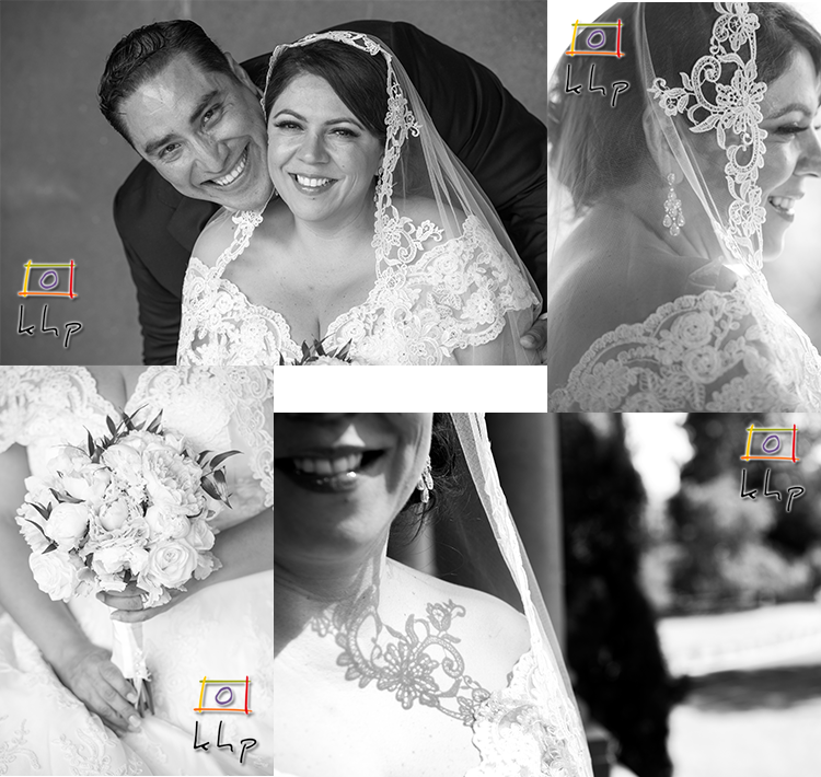 A few artistic black & white shots of the bride and the groom.