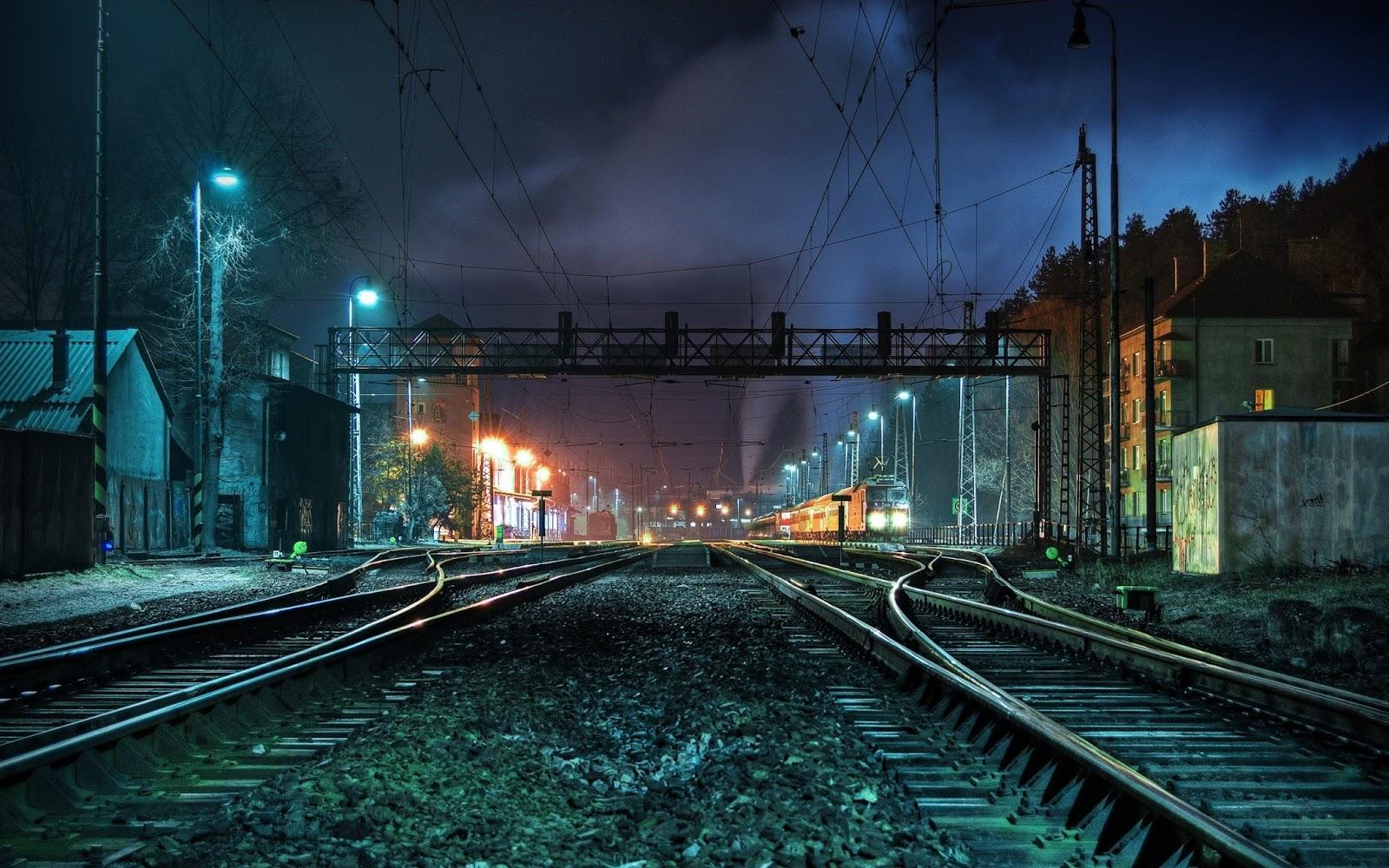 Railway Track cb Background - Photoshop Bolt
