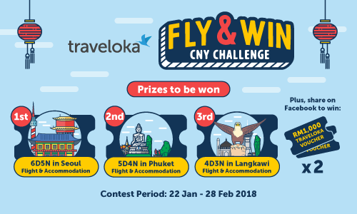 Traveloka, win free flight ticket to Seoul, mini games, online games, Traveloka Voucher