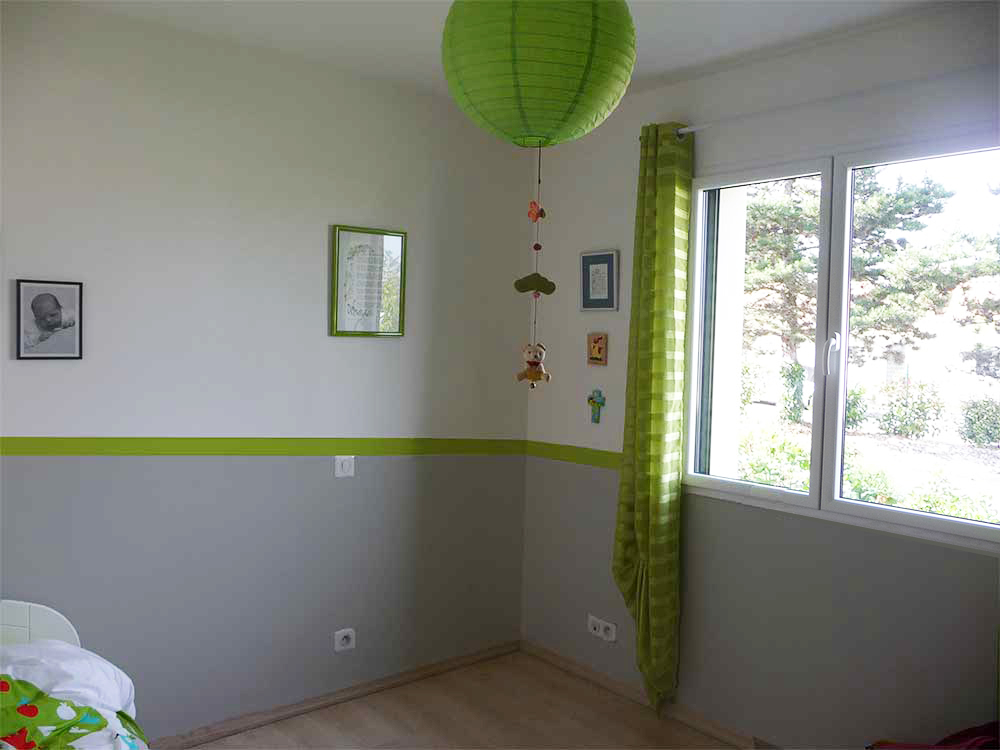 awesome chambre vert amande et beige contemporary design