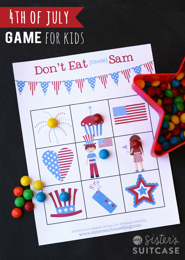 4th Of July Kids Game Don T Eat Sam My Sister S