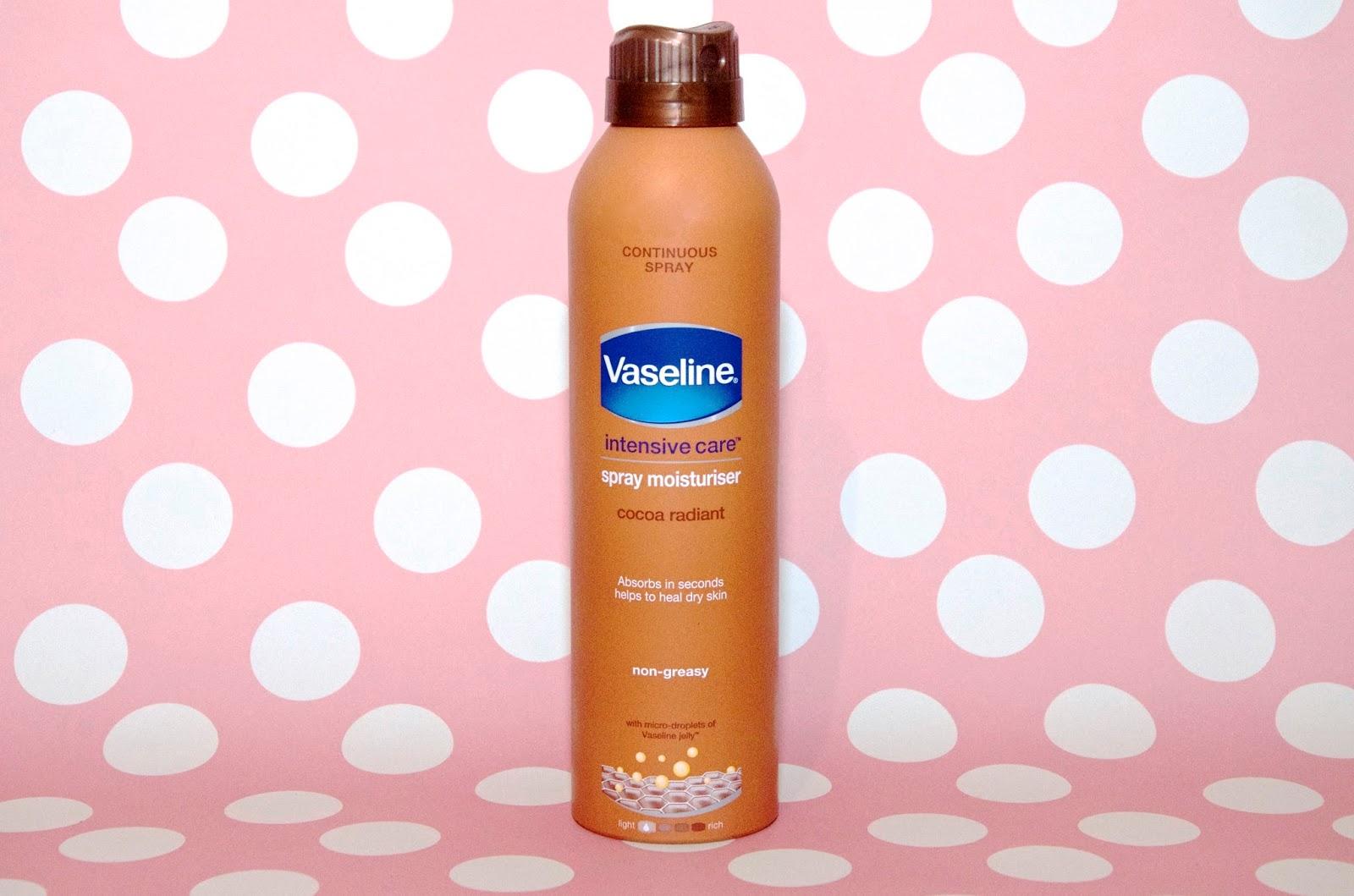 Vaseline Intensive Care Spray Moisturiser in Cocoa Radiant