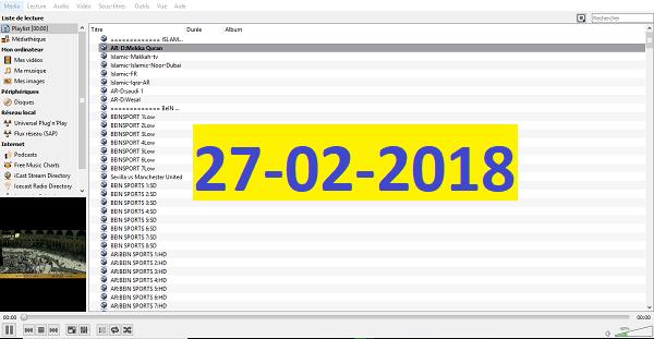 أقوى وأسرع ملف iptv لمشاهدة جميع القنوات بسرعات مختلفة ليوم 27-02-2018
