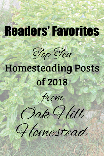 Top ten readers' choice homesteading posts of 2018
