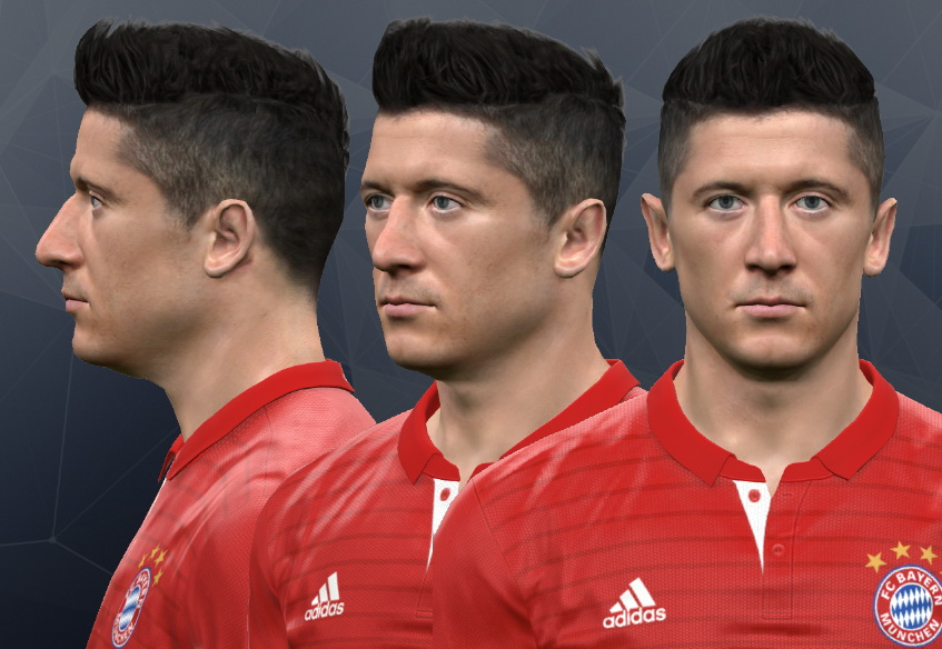 PES 2017  Robert Lewandowski Face by WER Facemaker