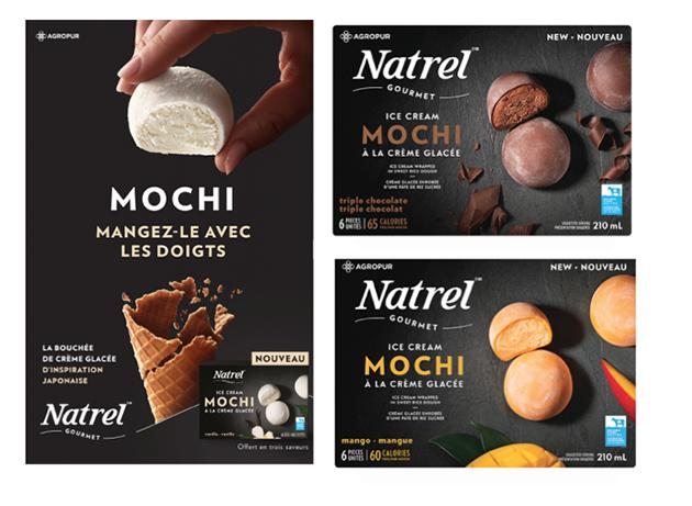 mochi, Natrel, Québec, glaces
