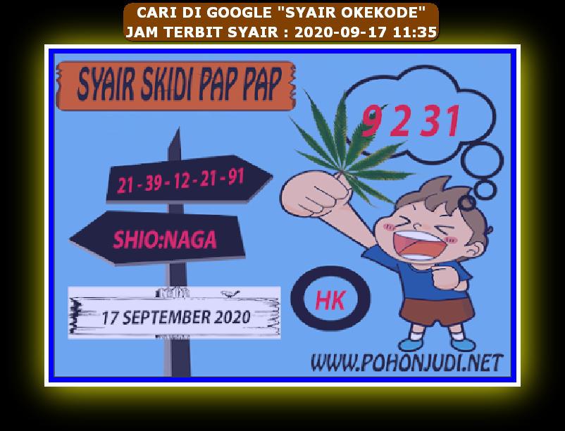 Kode syair Hongkong Kamis 17 September 2020 250