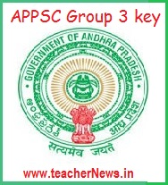 APPSC Group 3 Screening Test Answer Key 2017 Cutoff Marks