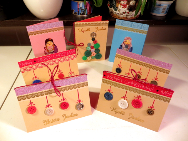 Button Christmas Cards