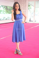 Divya Nandini stunning Beauty in blue Dress at Trendz Exhibition Launch ~  Celebrities Galleries 076.JPG