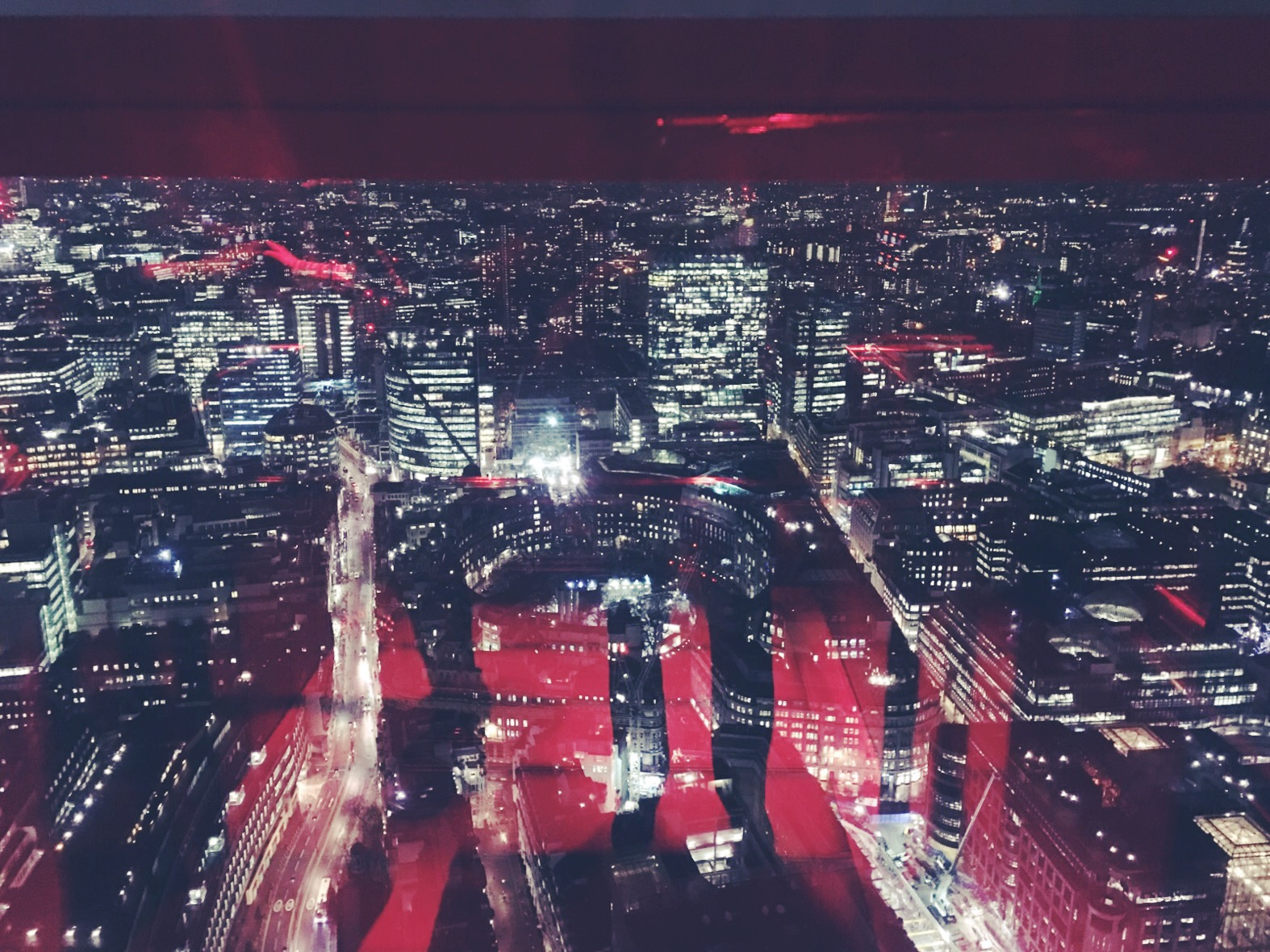 view of london at night