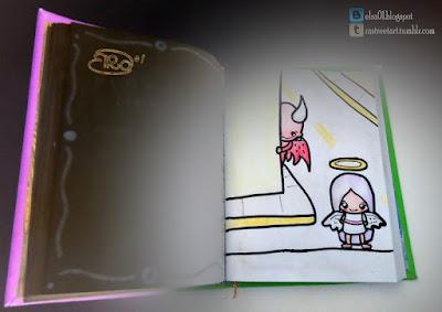 esta ilustración describe la frase Todo demonio siempre saldrá del infierno en busca de un ángel.