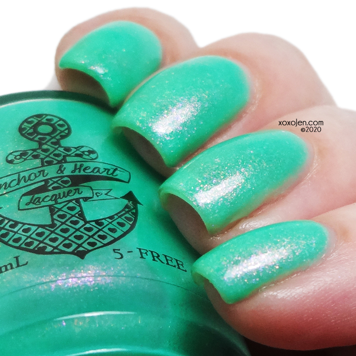 xoxoJen's swatch of Anchor & Heart Lacquer Feel For Lumps, Save Your Bumps!