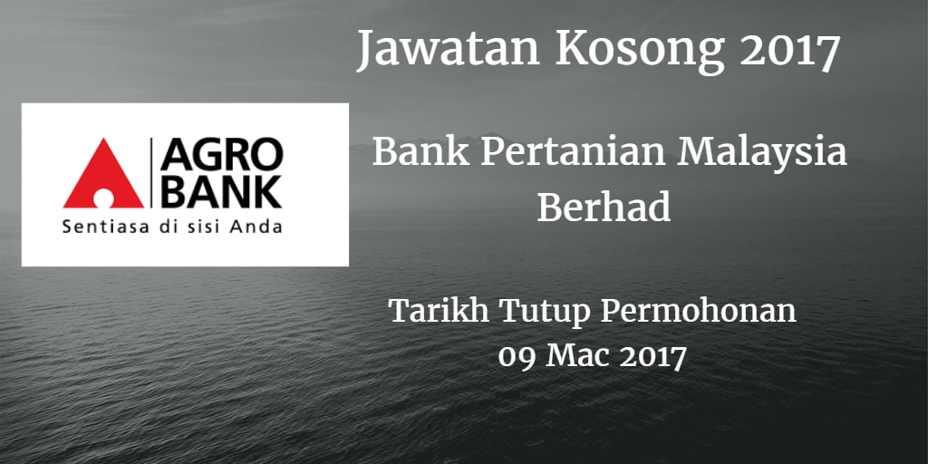 Jawatan Kosong Agrobank 09 Mac 2017