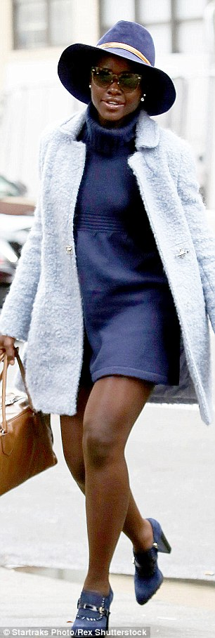 Lupita Nyong'o Shows Off Toned Legs As She Arrives At Theatre In NYC