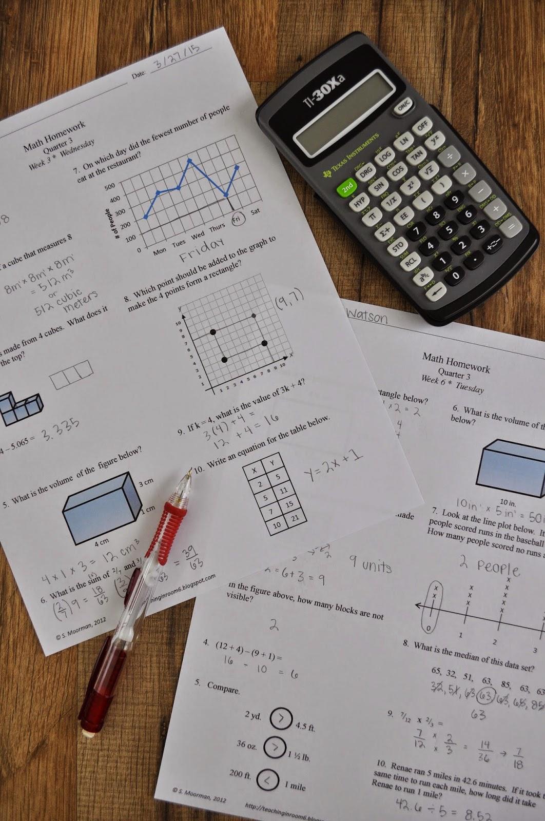 My Math Homework