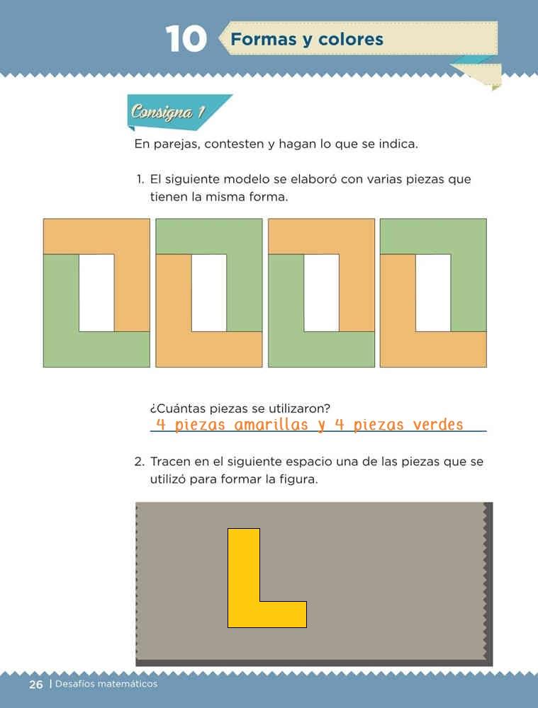 Formas y colores - Desafío 10 Desafíos Matemáticos primer grado