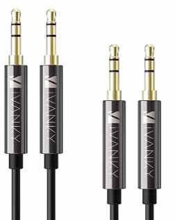 iVanky AUX Cable [2-Pack, 4ft - Hi-Fi Sound, Copper Shell]