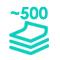 500 páginas al mes