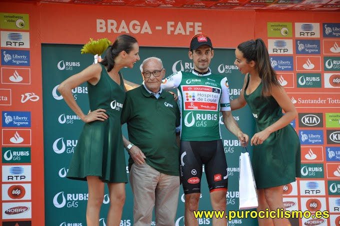 Vicente García de Mateos con el maillot verde ya es tercero