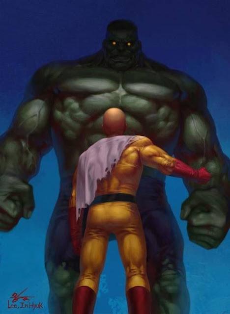 saitama vs marvel hulk