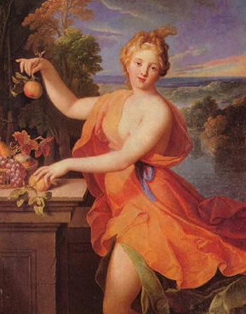 Pamona - the Roman Goddess of the Harvest. Photo: Wikimedia.