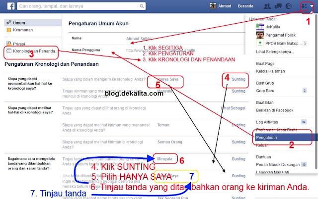 Mengatur Penandaan Akun Facebook