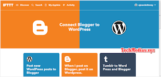 Post New Blogger Post to Wordpress IFTTT