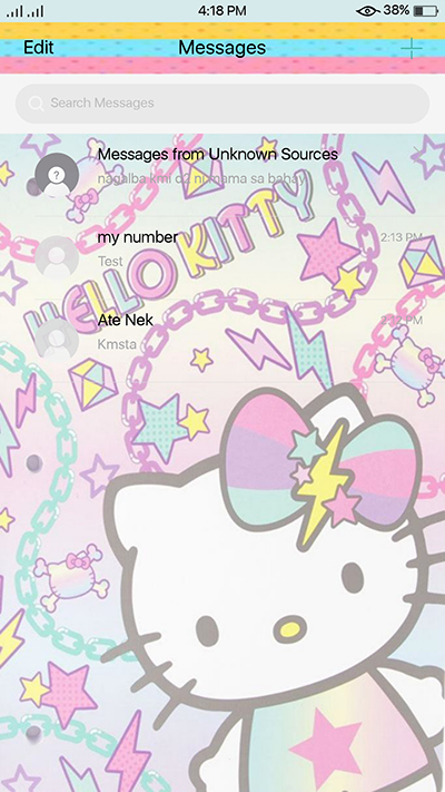 Hellow Kitty Theme Oppo F3